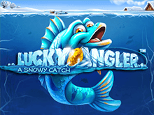 Lucky Angler: A Snowy Catch